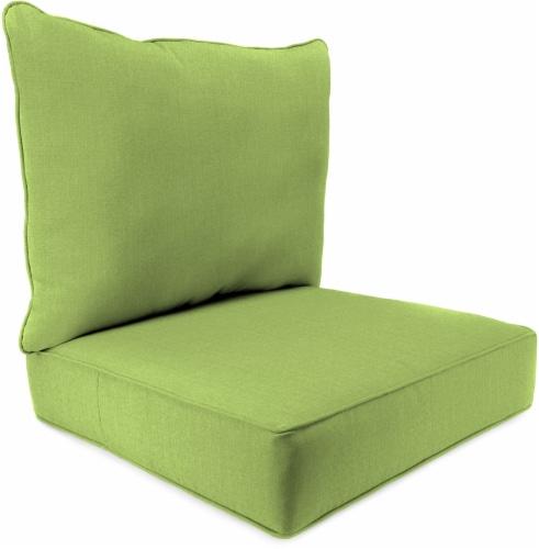 Jordan Manufacturing Deep Seat Pillow Back Set - Husk Texture Leaf Perspective: front