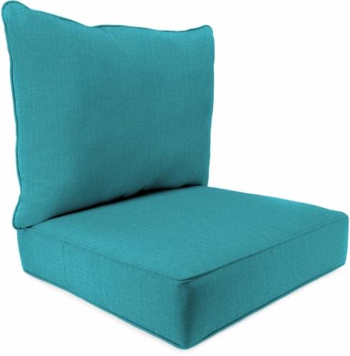 Jordan Manufacturing Deep Seat Pillow Back Set - Husk Texture Lagoon Perspective: front