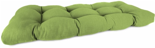 Jordan Manufacturing Wicker Settee Cushion - Husk Texture Leaf Perspective: front