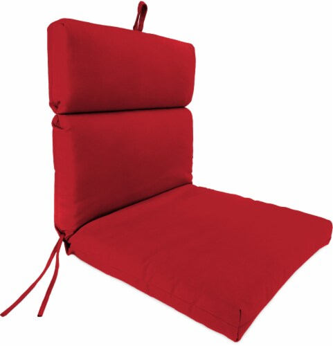 Jordan Manufacturing French Edge Chair Cushion - Veranda Red Perspective: front