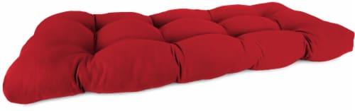 Jordan Manufacturing Wicker Settee Cushion - Veranda Red Perspective: front