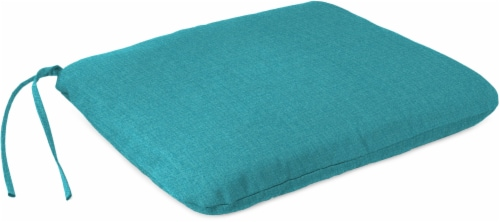 Jordan Manufacturing Seat Cushion - Husk Texture Lagoon Perspective: front