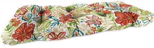 Jordan Manufacturing Wicker Settee Cushion - Valeda Breeze Perspective: front