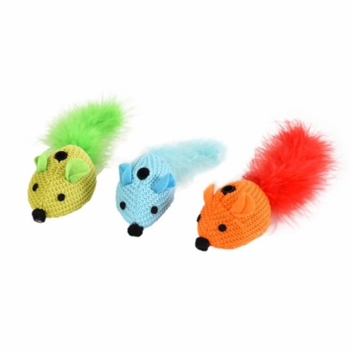 Cat Craft 3102303 EK QC Neon Mice Toys, Multi Color- 9 Total Perspective: front