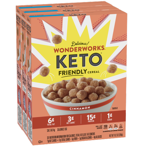 Wonderworks Keto Friendly Cinnamon Cereal Perspective: front