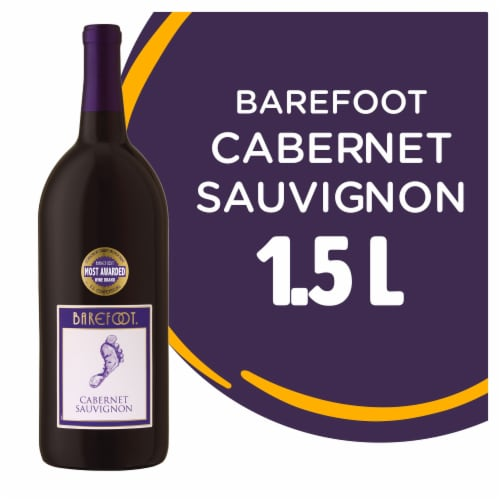 Barefoot Cellars Cabernet Sauvignon Red Wine 1.5L Perspective: front