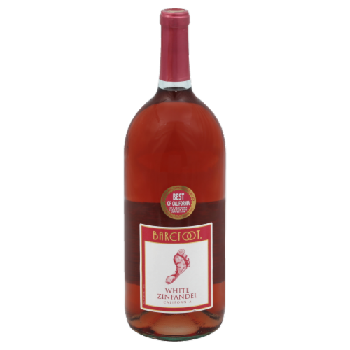 Barefoot White Zinfandel Blush Wine Perspective: front