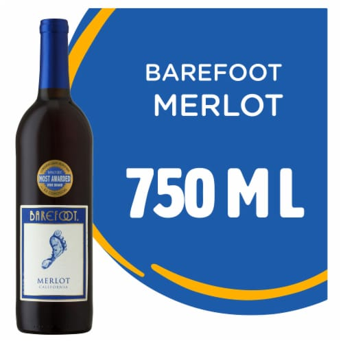 Barefoot Cellars Merlot Red Wine 750ml Perspective: front
