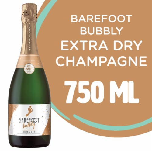 Barefoot Bubbly Extra Dry Champagne Sparkling Wine Perspective: front