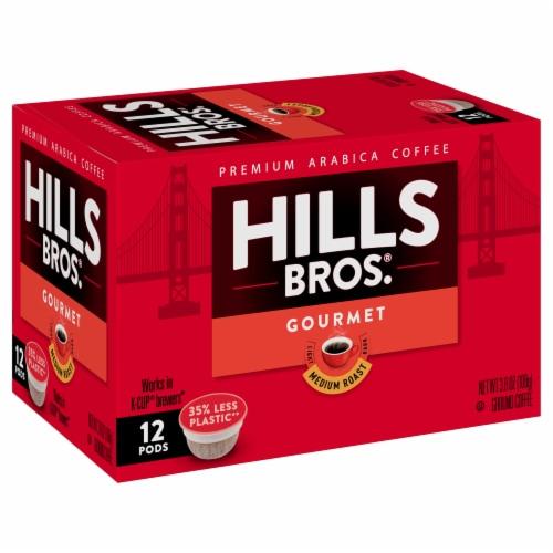 Hills Bros.® Gourmet Medium Roast Coffee Single Serve Cups Perspective: front
