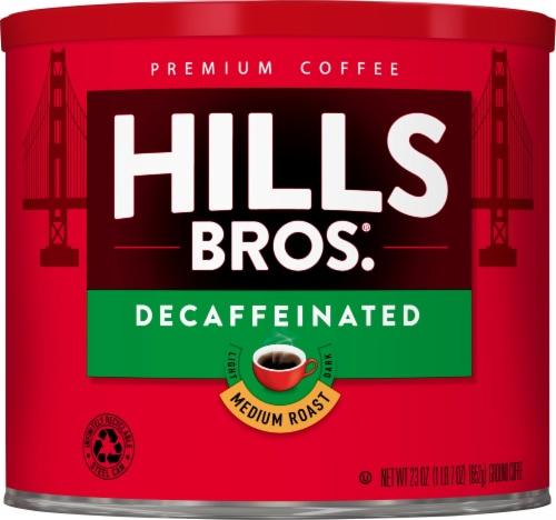 Hills Bros. Decaf Medium Roast Ground Coffee Perspective: front
