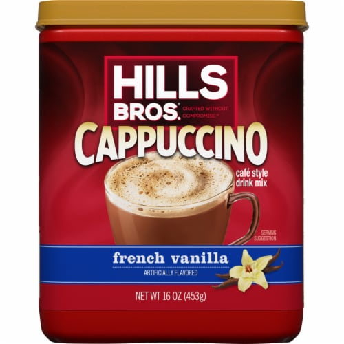 Hills Bros. French Vanilla Cappuccino Drink Mix Perspective: front