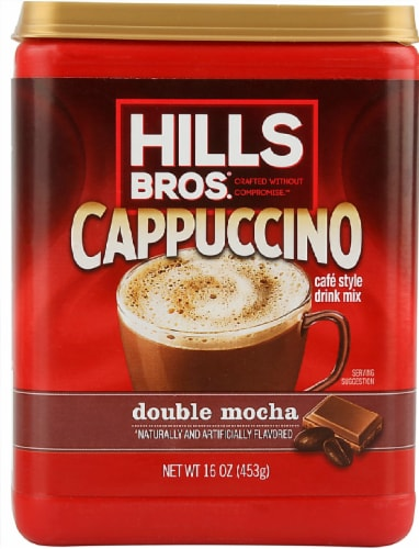 Hills Bros.® Double Mocha Cappuccino Drink Mix Perspective: front