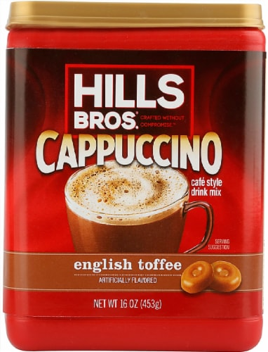 Hills Bros. English Toffee Cappuccino Drink Mix Perspective: front