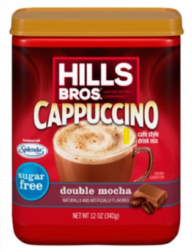 Hills Bros. Double Mocha Cappuccino Drink Mix Perspective: front