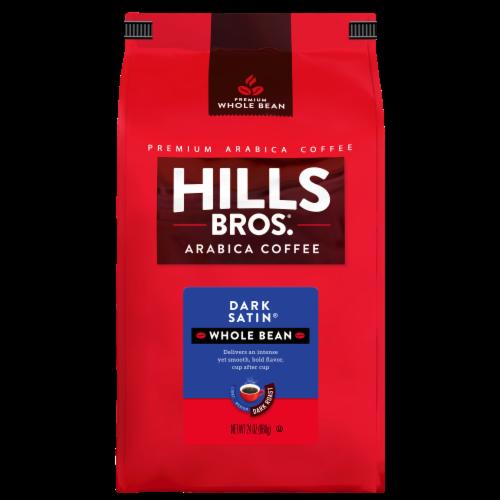 Hills Bros. Dark Satin Dark Roast Whole Bean Coffee Perspective: front