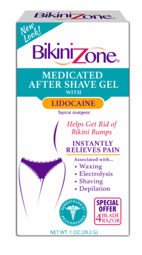 Bikini Zone Medicated After Shave Gel Perspective: front