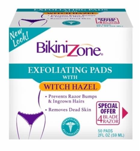 Bikini Zone Exfoliating Witch Hazel Pads Perspective: front