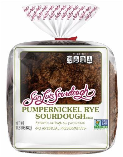 San Luis Sourdough® Pumpernickel Rye Sourdough Bread Perspective: front