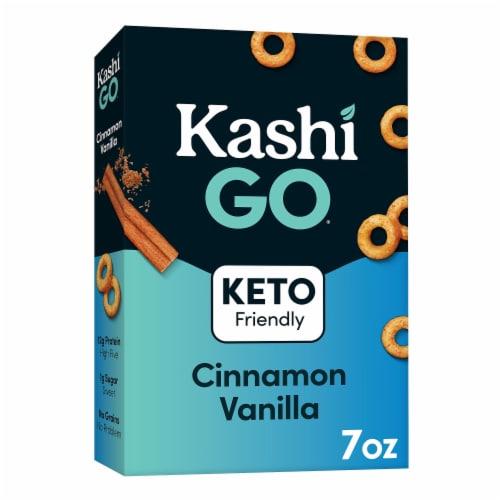 Kashi GO Breakfast Cereal Keto Cinnamon Vanilla Perspective: front