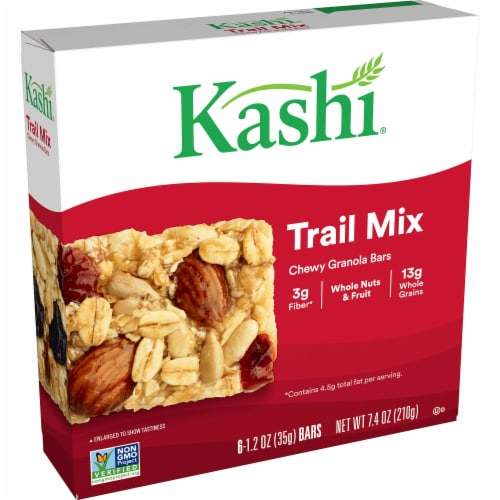 Kashi Vegan Chewy Granola Bars Trail Mix Perspective: front