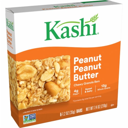 Kashi Vegan Chewy Granola Bars Peanut Butter Perspective: front