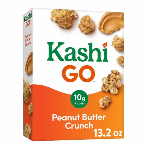Kashi GO Vegan Breakfast Cereal Peanut Butter Crunch Perspective: front