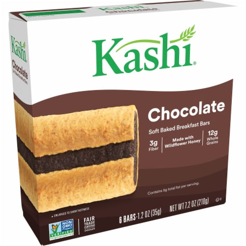 Kashi Soft Baked Breakfast Bars Chocolate 6 Count Perspective: front
