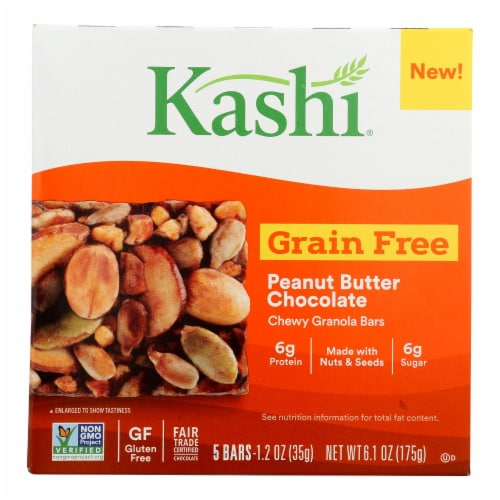 Kashi Vegan Chewy Granola Bars Chocolate Peanut Butter Perspective: front
