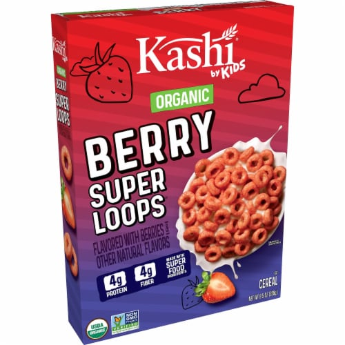 Kashi by Kids Organic Berry Super Loops Cereal Perspective: front