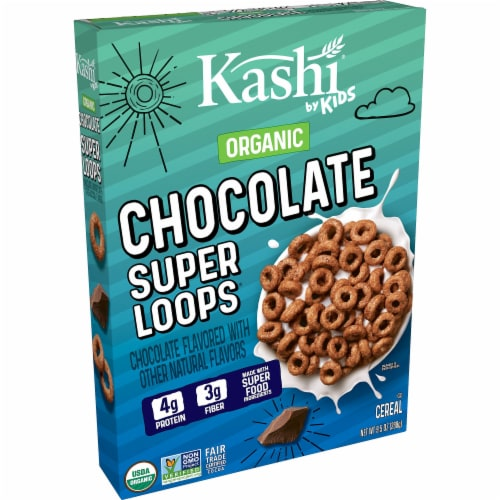 Kashi by Kids Organic Chocolate Super Loops Cereal Perspective: front