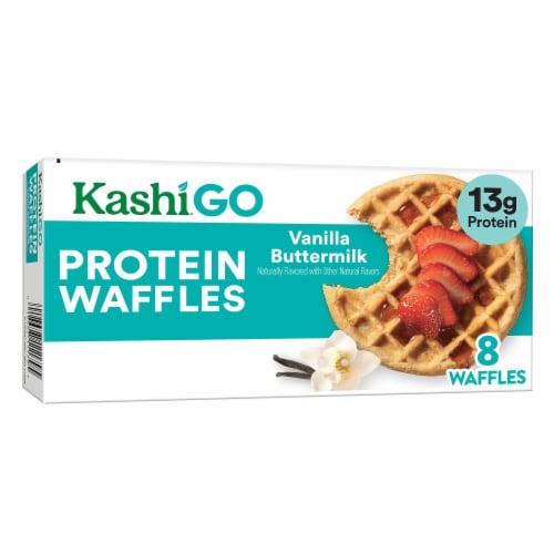 Kashi GO Vanilla Buttermilk Protein Waffles Perspective: front