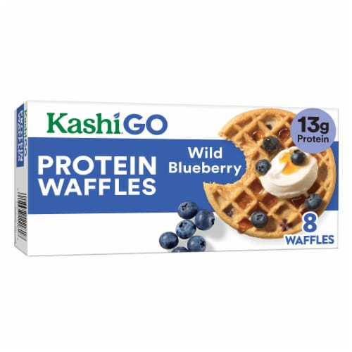 Kashi Golean Wild Blueberry Protein Waffles Perspective: front