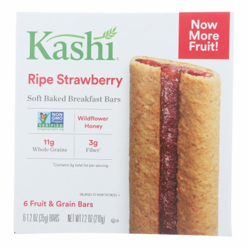 Kashi Ripe Strawberry Soft Baked Breakfast Bars Perspective: front