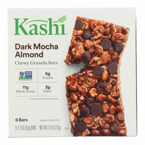 Kashi Vegan Chewy Granola Bars Dark Mocha Almond Perspective: front