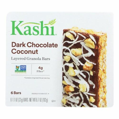 Kashi Dark Chocolate Coconut Layered Granola Bars - Case of 8 - 6.7 OZ Perspective: front