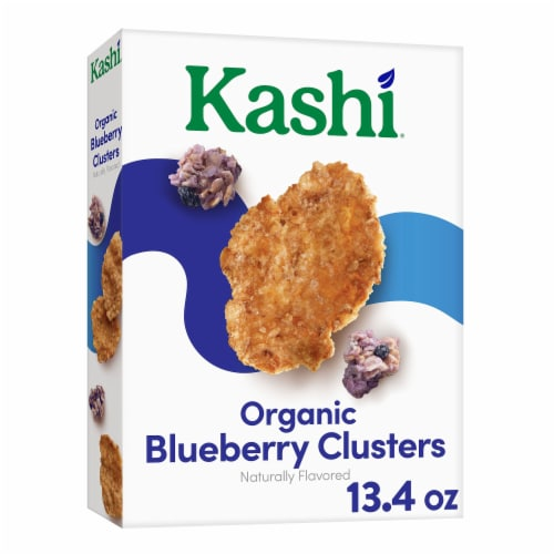 Kashi Organic Breakfast Cereal Blueberry Clusters Perspective: front