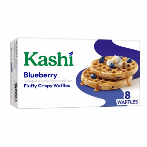 Kashi Blueberry Waffles Perspective: front