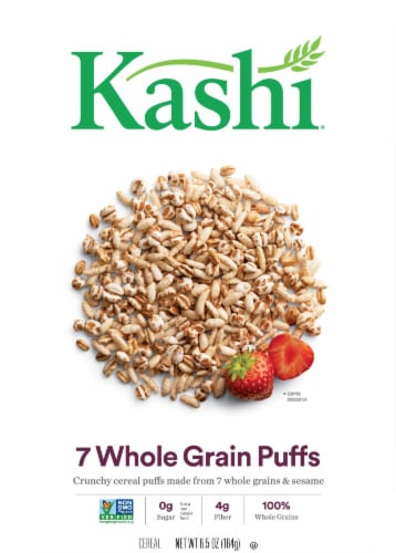 Kashi 7 Whole Grain Puffs Crunchy Whole Grains & Sesame Cereal Perspective: front