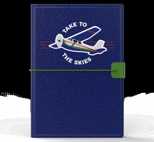 IG Design Skies Passport Holder - Navy Perspective: front