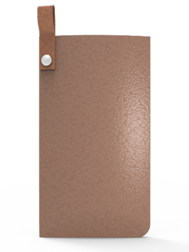 IG Design Glasses Case - Taupe Perspective: front