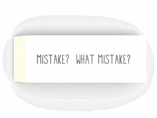 IG Design Jumbo Eraser - White Perspective: front