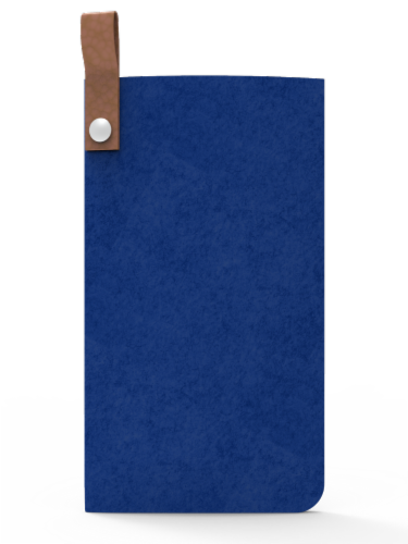 IG Design Felt Glasses Case - Navy Perspective: front