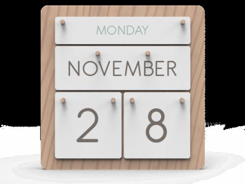 IG Design Desktop Calendar Perspective: front