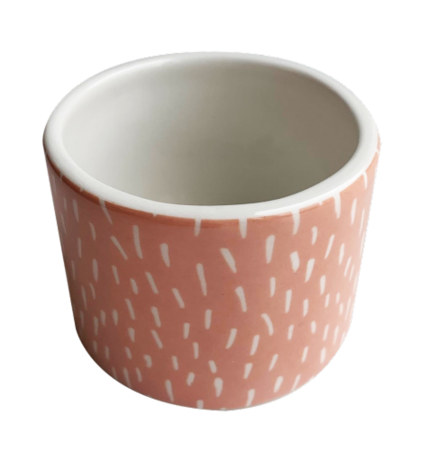IG Design Ceramic Votive Candle Holder - Pink Strokes Perspective: front