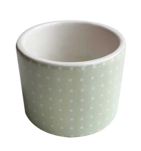 IG Design Ceramic Votive Candle Holder - Green Perspective: front