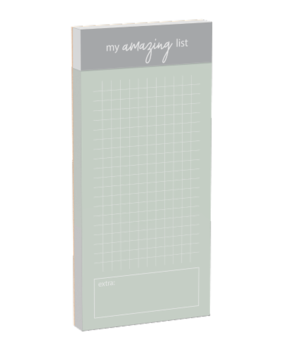 IG Design My Amazing List Magnetic Notepad Perspective: front