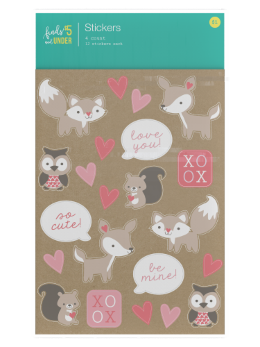 IG Design Sticker Sheets - Animals Perspective: front