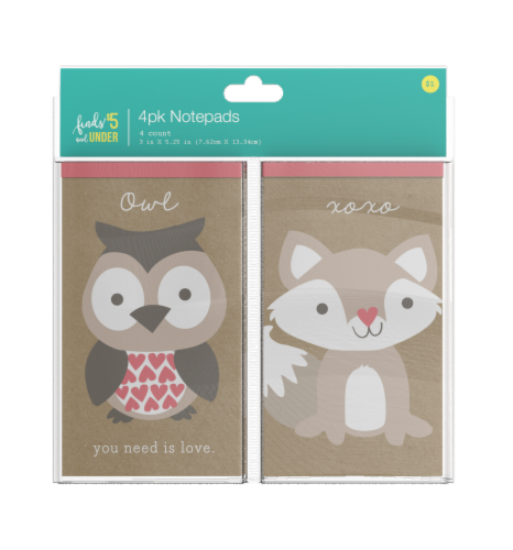 IG Design Animal Notepads Perspective: front