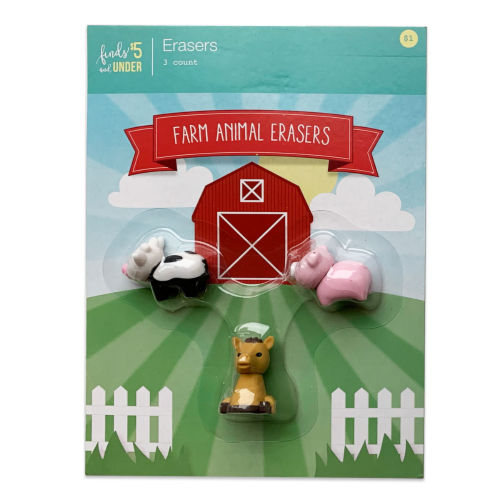 IG Design Farm Animal Erasers Perspective: front